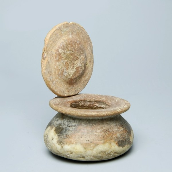 Egyptian New Kingdom Alabaster Cosmetics Jar