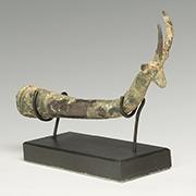 Luristan bronze antelope whetstone