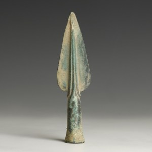 bronze age decorated spearhead point