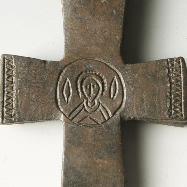 Byzantine Enkolpion Cross with the Image of Saint George