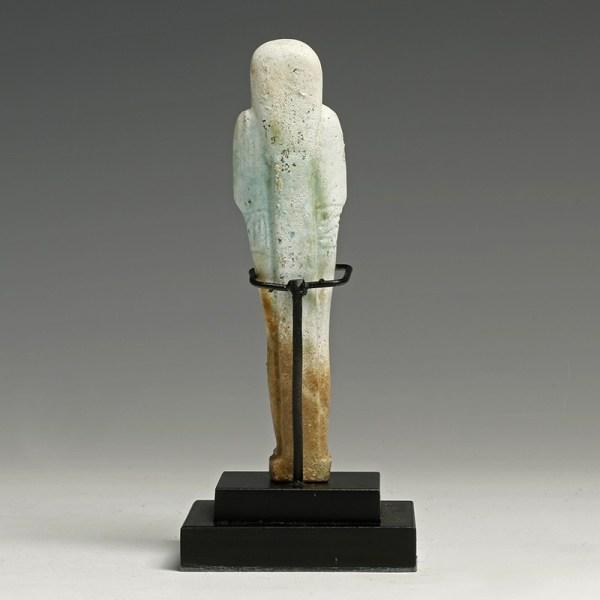 Egyptian Glazed Hieroglyphic Shabti