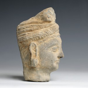gandhara stone head buddha siddhartha