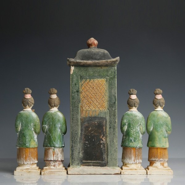 A Ming Dynasty Palanquin & Attendants