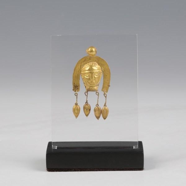 Scythian Gold Bust Pendant