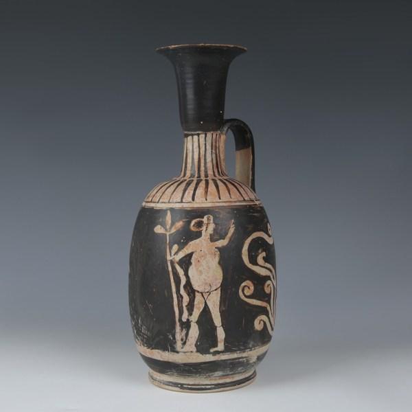 Apulian Lekythos with Two Dancers