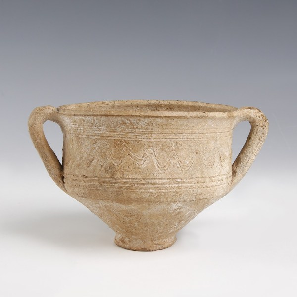 Ancient Roman Two Handled Terracotta Bowl