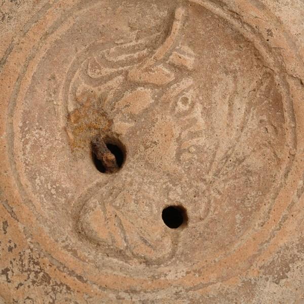 Roman Oil Lamp With Female Profile