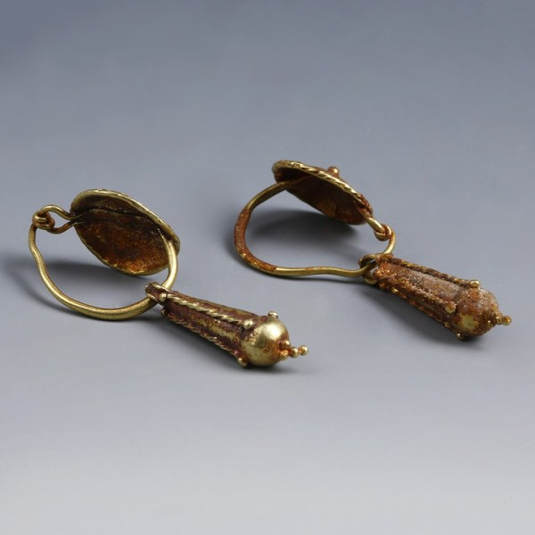 Roman Gold Earrings with Pendants