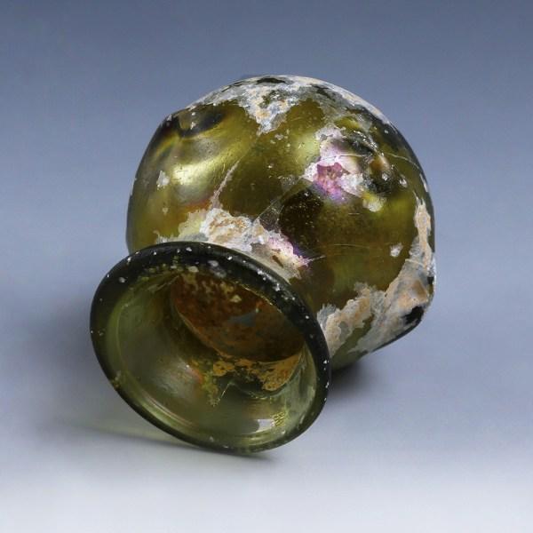 Roman Green Glass Jar