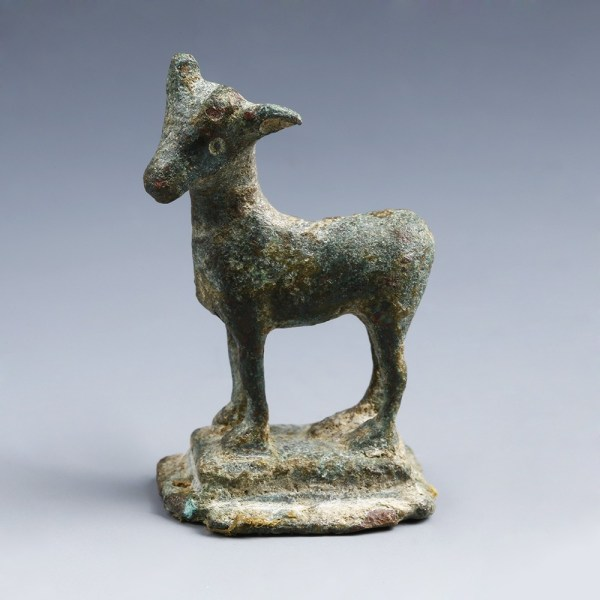 Roman Bronze Figurine of a Goat