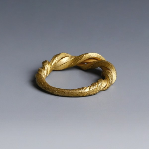 Viking Twisted Gold Ring