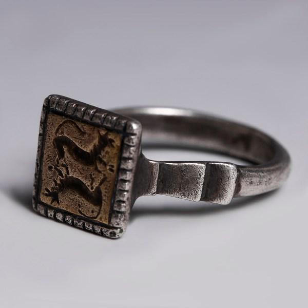 Late Mediaeval Silver Gilt Seal Ring