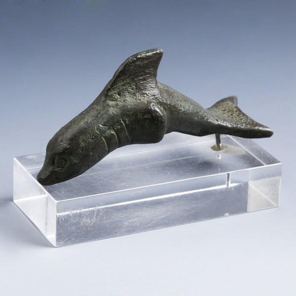Roman Bronze Dolphin Figurine