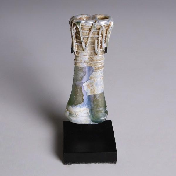 Roman Small Blue Glass Unguentarium