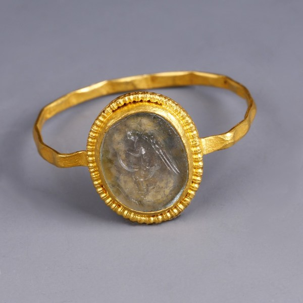 Roman Gold Ring with Cupid Intaglio