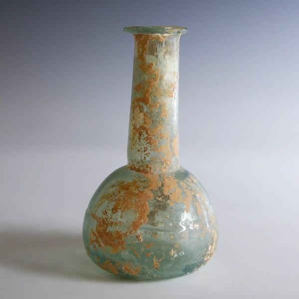 Roman Pale Blue Glass Flask