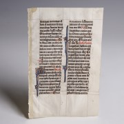 Medieval Book of Hours Vellum Page