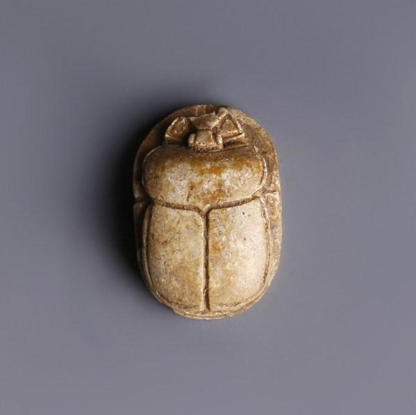Delicate Scarab Amulet of Seti II