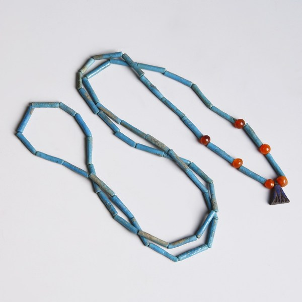 Egyptian Amarna Period Necklace with Lotus Flower