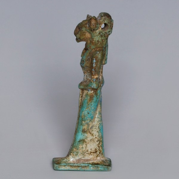 Egyptian Faience Amulet of the Goddess Sekhmet