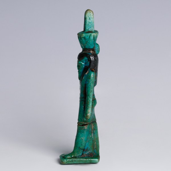 Egyptian Glazed Faience Amulet of Nefertem
