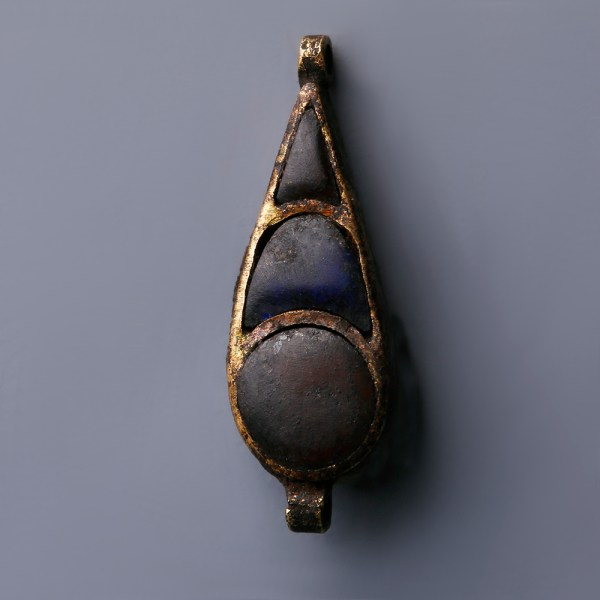 Egyptian Gold with Carnelian and Lapis Lazuli Amulet