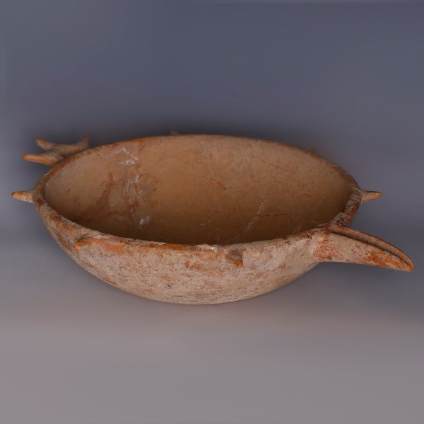 Amlash Ritual Spouted Bowl with Spiked Handle