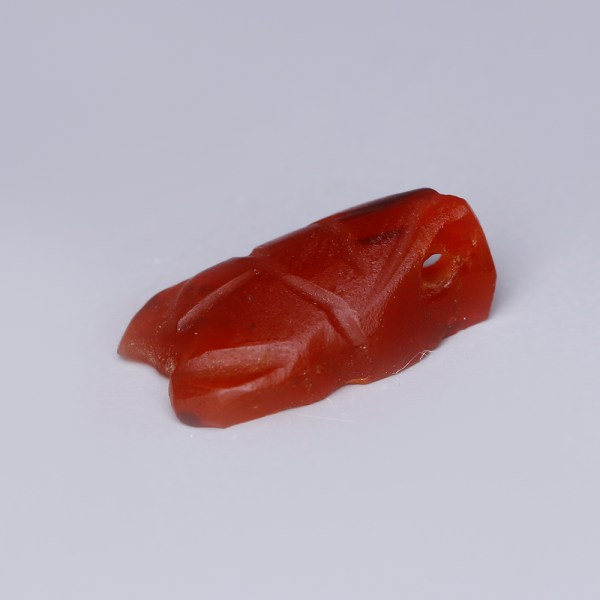 Ancient Egyptian Carnelian Turtle Amulet