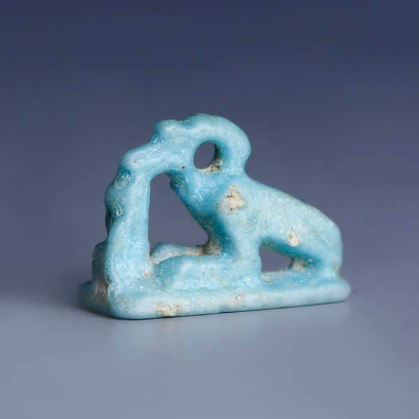 Egyptian Faience Amulet of Thoth as Ibis