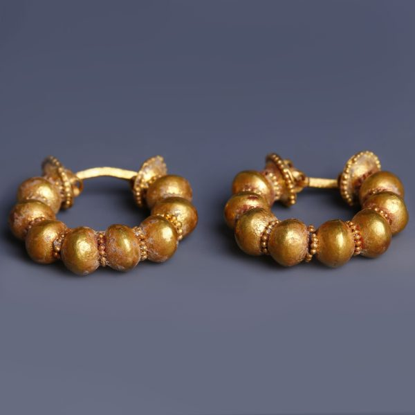Greek Gods jewelry Greek coin antique earrings Chunky hoop earrings with charm