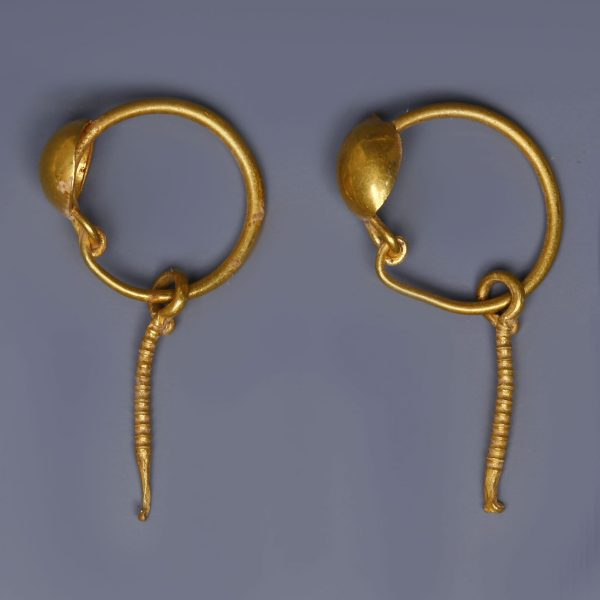 Roman Gold Disc Earrings