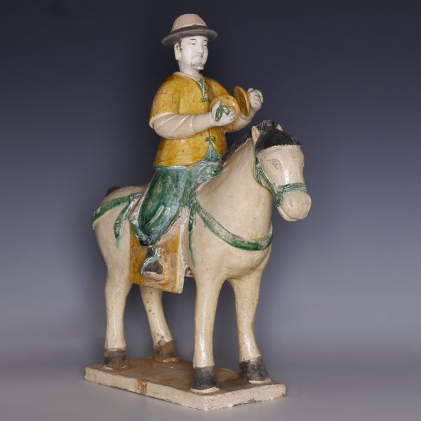 Sancai Glazed Ming Dynasty Horseman