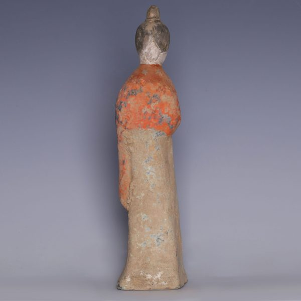 Tang Dynasty Court Lady in Amber Dress
