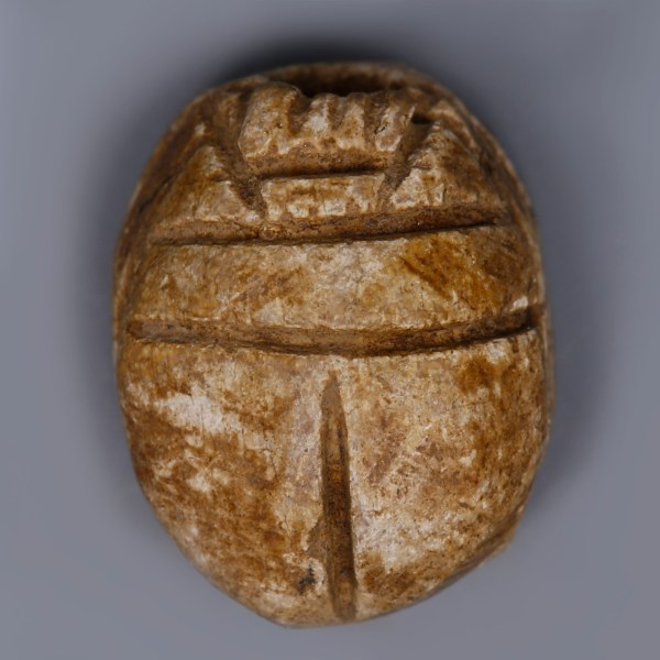 Egyptian Steatite Scarab with an Antelope