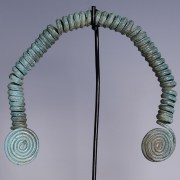 Bronze Age Coiled Jewel with Spirals