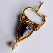 Ancient Greek Pendant with Garnet and Pearl
