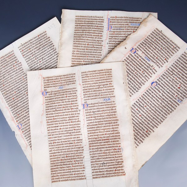 Selection of Medieval British Bible Pages