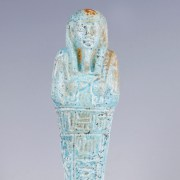 Ancient Egyptian Blue Glazed Faience Shabti