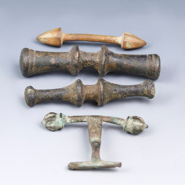 four celtic bronze toggles