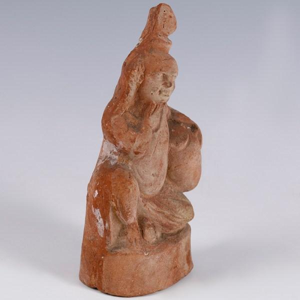 Romano-Egyptian Terracotta Statuette of Harpocrates