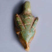 Near Eastern – Western Asiatic Bone Green Glazed Pendant