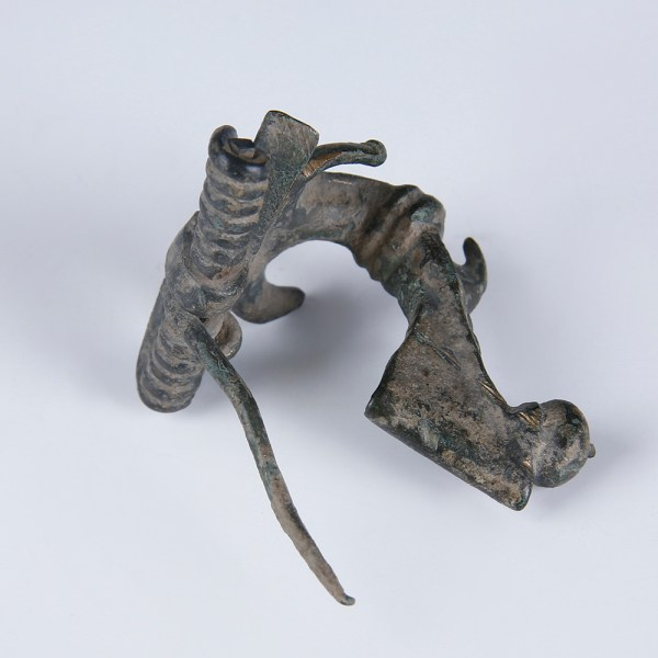 Ancient Roman Bronze Multi-Phallic Anchor Fibula