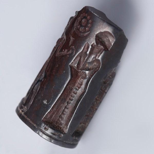 Babylonian Hematite Cylinder Seal