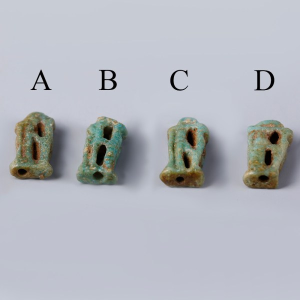 Selection of Faience Amulets of Rearing Cobras
