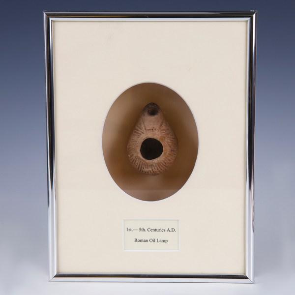 Holy Land Terracotta Oil Lamp in Custom-Made Case