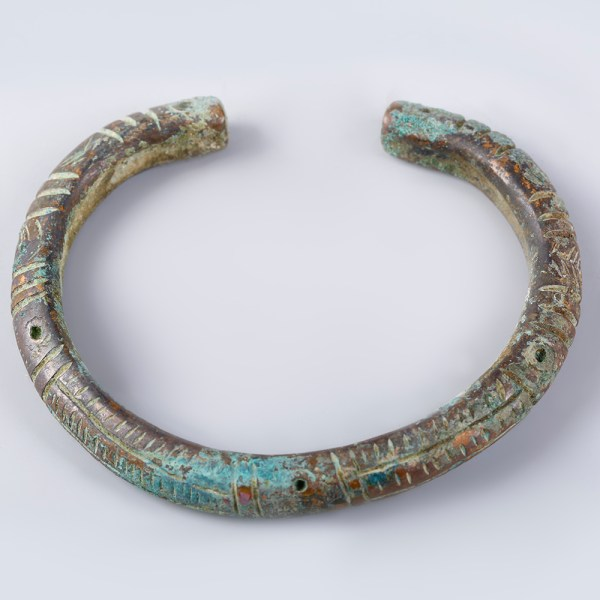 Luristan Bronze Bangle with Decorative Incised Marks