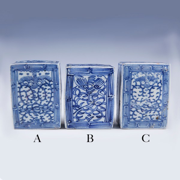 Chinese Qing Dynasty Blue and White Boxes