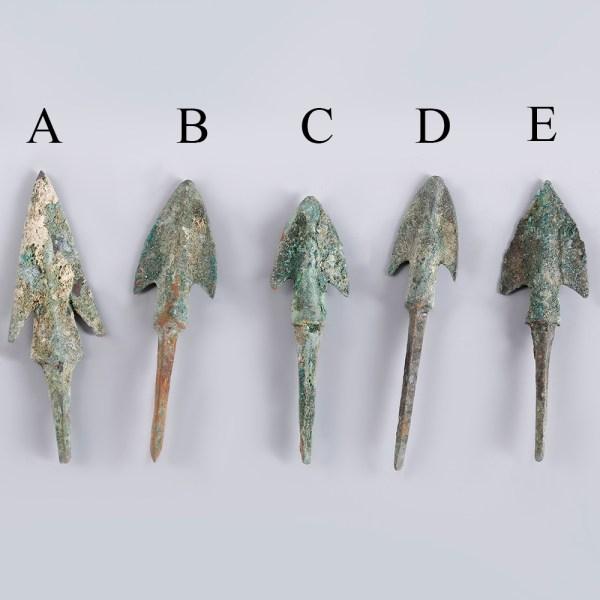 Selection of Anatolian Barbed Bronze Arrowheads