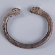 Urartu Silver Bangle with Decorative Zoomorphic Finials