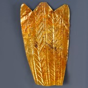 Hellenistic Gold Fine Repousse Leaf from a Gold Wreath